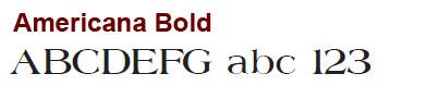 Americana Bold - Mini Aluminum Letters