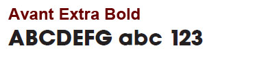 Avant Extra Bold - Mini Bronze Letters