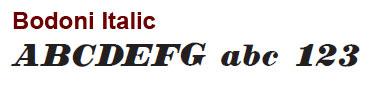 Bodoni Italic - Mini Bronze Letters