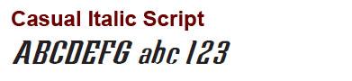 Casual Italic Script - Mini Bronze Letters