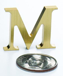 Mini Brass Letters