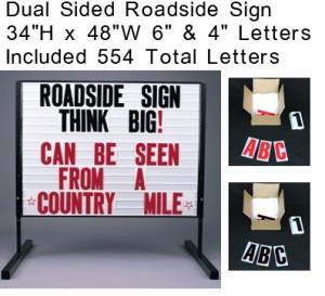 roadside changeable letter sign