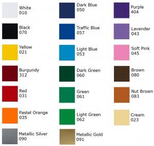 Vinyl Letter Colors