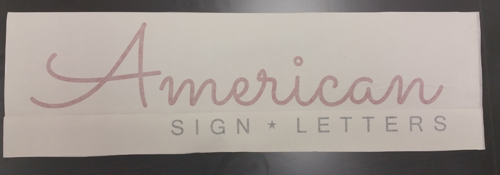 Vinyl Lettering and Numbers for Signs - AmericanSignLetters