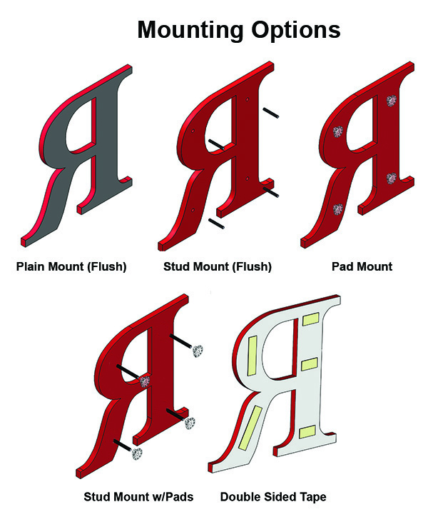 plastic letters for signs acrylic letters and numbers for signs americansignletters 24014 | Acrylic mounting installation options700