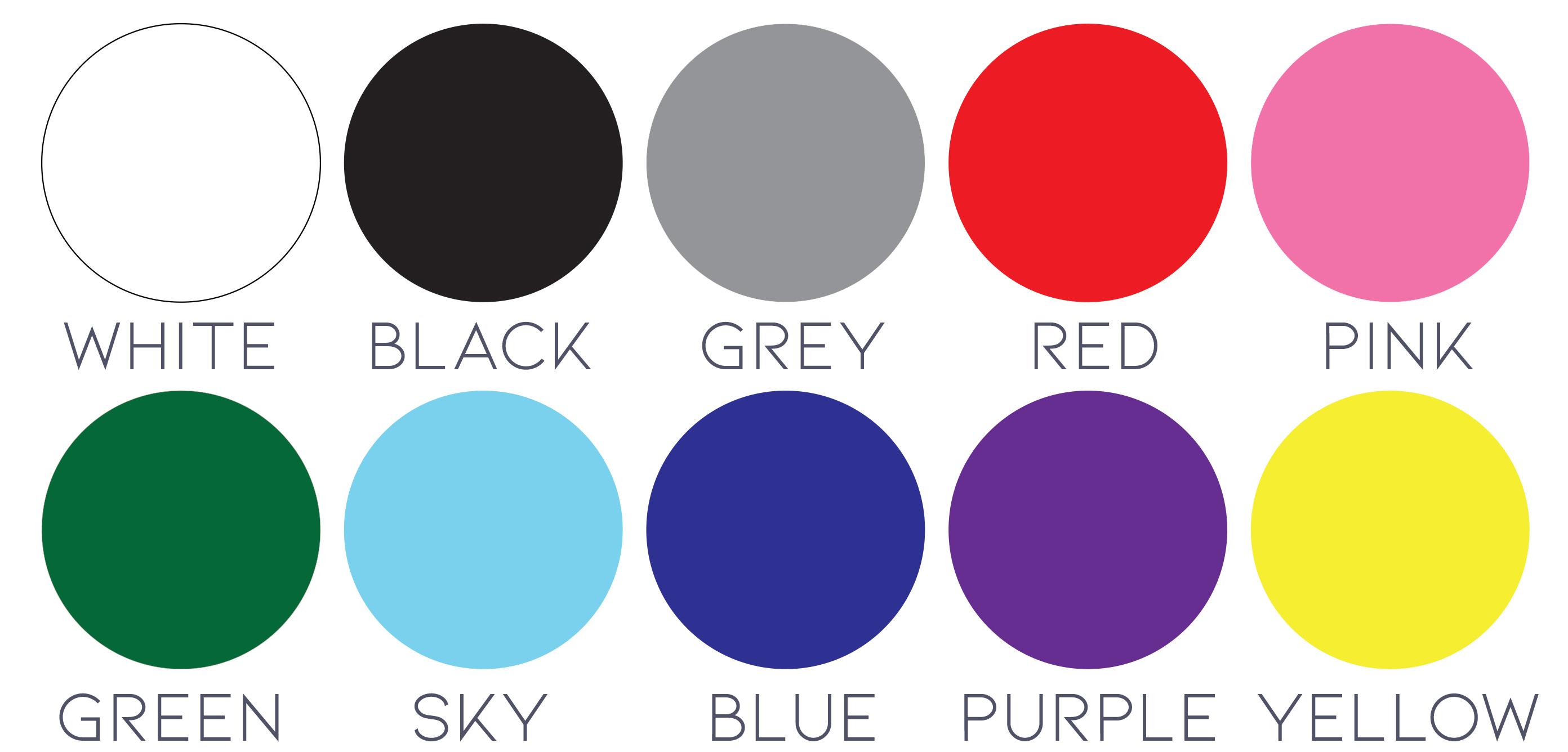 aluminum sign colors